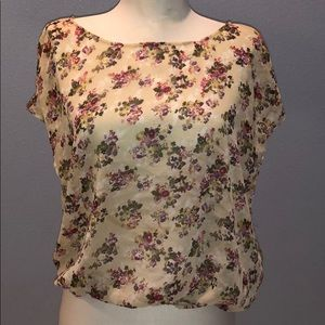 Band of Gypsies Floral Sheer Blouse